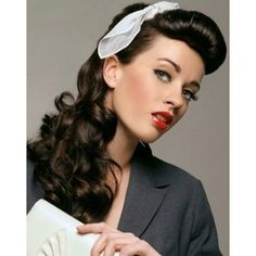 How to Burlesque Hairstyles for Long Hair Burlexe ❤ liked on Polyvore featuring beauty products, haircare, hair styling tools, hair and vintage