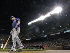 Texas Rangers' Josh Hamilton prepares for an at-bat in the ninth inning of the second baseball game of a doubleheader against the Baltimore Orioles in Baltimore, Thursday, May 10, 2012. Texas won 7-3. (AP Photo/Patrick Semansky)