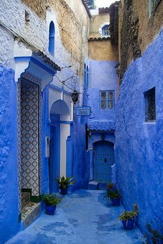 blue Morocco - brought this colour home in pigment I loved it so much
