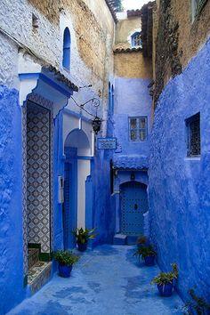 Moroccan blue apartment