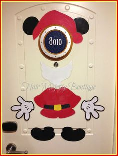 Mickey Mouse Santa Body Part Magnet for by HairMajestyBoutique, $17.00