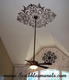 I used Royal Designs Studio's Modello product to create this striking ceiling medallion.