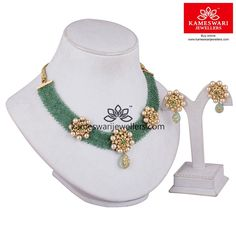 Emerald Elite Set We ship across and Call/Whatsapp us on Gold Earrings Designs, Gold Jewellery Design, Necklace Designs, Gold Designs, Rajputi Jewellery, Gold Jewelry Simple, Light Weight Gold Jewellery, Necklace Online, Indian Jewelry