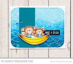 Soak up the Fun stamp set and DIe-namics, Whimsical Waves Background _ Anna Kossakovskaya #mftstamps