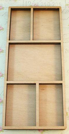 Wood big reactangle shadow box no.2