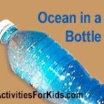 Ocean in a Bottle craft for kids.  Bible craft for Noah's Ark.