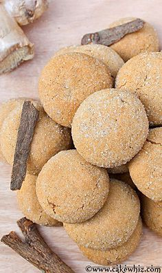 These SWEDISH GINGER COOKIES are irresistible. Crispy, sugary and spicy! Great for gift-giving too! From cakewhiz.com