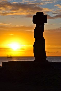 Sunset from Ahu Tahai, Easter Island