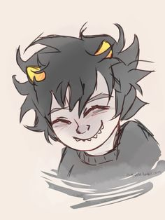 Have a smiley baby karkat Because he wasn't always grumpy and shouty