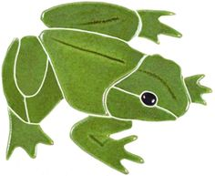 Mosaic Bull Frog for Swimming Pool or Wall - Frostproof - Free Shipping