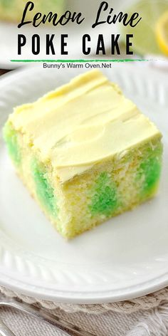 two refreshing flavors together in a very easy and much loved refrigerator cake. Youre going to love this old favorite Enjoy! Lemon Dessert Recipes, Poke Cake Recipes, Poke Cakes, Easy No Bake Desserts, Easy Dinner Recipes, Delicious Desserts, Easy Sweets, Jello Recipes, Have A Snickers