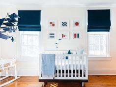 Nautical Inspired Nursery in primary colors