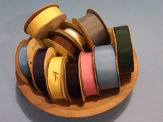 Vintage Grayblock Grosgrain Ribbon by YesterdaysPleasures on Etsy