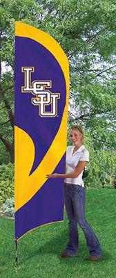 LSU Tigers Team Pole Flag