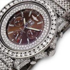 Diamond Breitling Watch via: