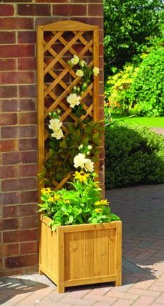 Set of 2 Gardman Wooden Garden Trellis Planters - Wood for sale online
