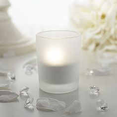 Frosted Tea Light Candle Holder