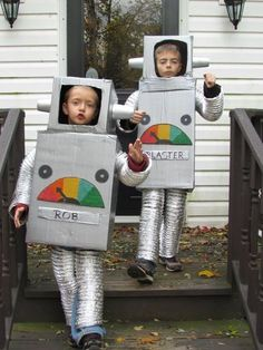 Homemade Halloween Costumes Robot costumes diy
