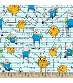 Adventure Time Mathmatical Flannel Fabric