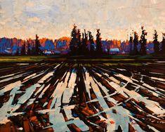 """""""Early Evening Glow,"""" by Min Ma  http://www.bestlandscapepaintings.com/"""