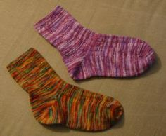 Basic Knit Sock Pattern : Wise Hilda Knits: By Popular Demand: Basic Ribbed Sock Knit/Crochet/Crafts ...