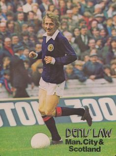 Denis Law Manchester City & Scotland 1974