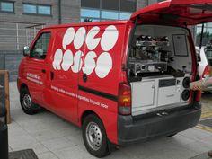 Coffee Carts, Coffee Truck, Food Truck Interior, Barista Training, Mobile Coffee Shop, Coffee Trailer, Suzuki Carry, Mobile Cafe, Coffee Van