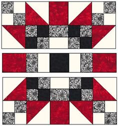 Love the complex look but simplicity of the process. Lots of great blocks - free patterns - on Delaware quilt blocks ***