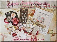 Scraps of Elegance September Simply Shabby Chic scrapbook kit  www.scrapsofelegance.com