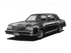 My 1978 Buick Regal Turbo Sport Coupe, in pencil