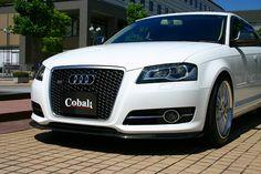 Audi A3('08-  ) Carbon Lip Spoiler / Cobalt  aero (バンパーセンター部はカーボンシートを貼り付け)