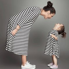 Aliexpress.com : Buy NUNUNU Mother Daughter Dresses Fashion Long Sleeve Striped Family Matching Clothes Cotton Mom and Daughter Pajamas Clothing from Reliable clothing printer suppliers on TinyBerry | Alibaba Group