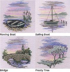 Minuets - Set of 4 Cross Stitch Kits Min09/10/11/12