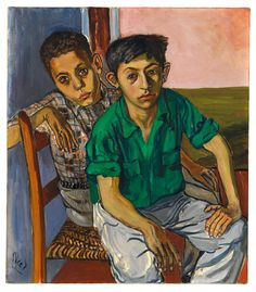 """""""Two Puerto Rican Boys,"""" from 1956. Estate of Alice Neel, David Zwirner, New York/London; Jeff and Mei Sze Greene Collection"""
