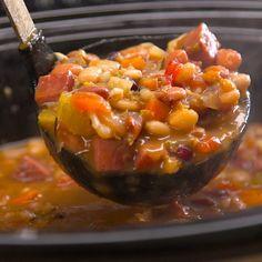 Slow Cooker Ham & Bean Soup