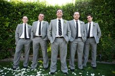 groomsmen outfits  TYH: guys can use suspenders and take suit jacket off after ceremony