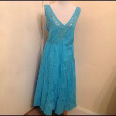 Aqua Blue Color Size 4x Ladies Sun Dress Size 4x ladies sun dress, like new condition ! Nice summer wear ! Elastic back ! Dresses