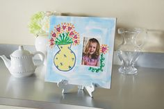 Hearts and Flowers Painted Canvas Frame
