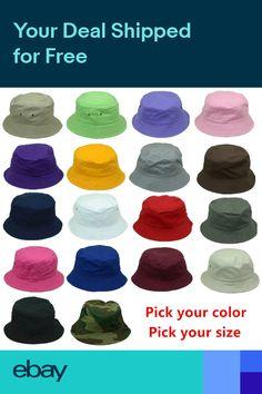 New Women Men Bucket Hat Cap Fishing Boonie Brim visor Sun Safari Summer  Camping 597e9cb550d7