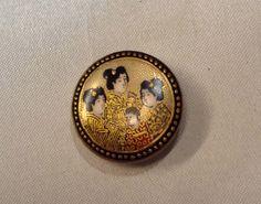 Botón de porcelana japonesas de 1920