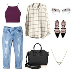 """""""Untitled #1"""" by mikaylaann-i ❤ liked on Polyvore featuring Topshop, MANGO, Miu Miu, Zara, Givenchy, H&M and Banana Republic"""