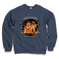 Supernatural Demonic Fury Silver Crewneck Sweatshirt
