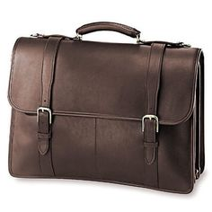 8a69ed7569e1 Jack Georges University Oversized Triple Gusset Flap Over from District  Grain Leather Briefcase