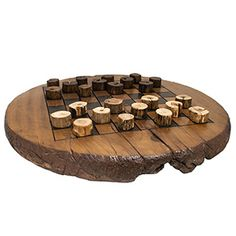 Eco-friendly Reclaimed Teak Wood Checker Game Board with Teak Checker Set @Linda Wheeler