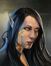 Elf Female Shadowrunners Portraits from Shadowrun Returns and Shadowrun Dragonfall.