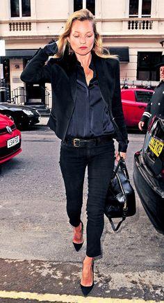 Kate Moss- all black