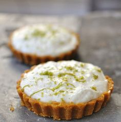 Lime Cheesecake Tartlets. Quick and easy to make, and I think I could substitute another fruit for the lime.
