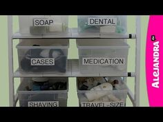 [VIDEO]: Bathroom Cabinet Organization Tips | Alejandra.tv  use tension rod for paper towels under sink, use shelf specially made for pipe under sink