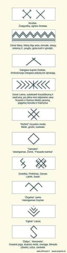 zenklai. Lithuanian traditional sacred symbols. #Pagan #Baltic:
