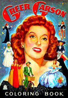 Greer Garson Coloring Book - Oh I want!!!
